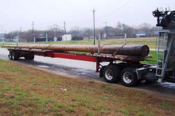 a pole being transported